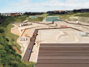 Parco urbano e attrezzature integrate a Cagliari